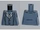 Part No: 973pb1109  Name: Torso Batman Suit with Vest, Gray Tie Pattern