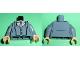 Part No: 973pb1109c01  Name: Torso Batman Suit with Vest, Gray Tie Pattern / Sand Blue Arms / Light Flesh Hands