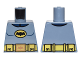 Part No: 973pb2246  Name: Torso Batman Logo in Yellow Oval with Yellow Utility Belt and Gold Buckle Pattern