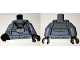 Part No: 973pb2352c01  Name: Torso SW Rebel A-wing Pilot with Dark Gray Vest and Black Front Panel with Breathing Apparatus Pattern / Sand Blue Arms / Black Hands