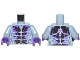 Part No: 973pb2717c01  Name: Torso Black and Dark Purple Rock Veins Pattern / Sand Blue Arms / Dark Purple Hands