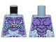 Part No: 973pb2741  Name: Torso Dark Purple Rock Plates, White and Bright Light Blue Lightning Effect and Arcane Symbols Pattern