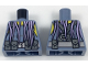 Part No: 973pb2859  Name: Torso Scuba Vest with Utility Belt with Pouches and Lavender Tentacles Pattern