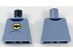 Part No: 973pb2901  Name: Torso Batman Logo in Yellow Oval, Dark Blue Collar and Stomach Contour Lines Pattern