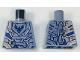 Part No: 973pb2908  Name: Torso Nexo Knights Armor Semi-Stone with Dark Blue Falcon in Shield Pattern