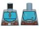 Part No: 973pb3803  Name: Torso SW Armor Dark Azure Plates and Dark Brown Belt Pattern (Mandalorian)