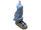 Part No: gal19  Name: Galidor Limb Leg Nick, Bottom Section with Dark Gray Shoe