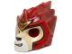 Part No: 11129pb07  Name: Minifigure, Headgear Mask Lion with Tan Face and Gold Crown Small Pattern