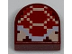 Part No: 24246pb005  Name: Tile, Modified 1 x 1 Half Circle Extended (Stadium) with Pixelated Koopa Troopa Pattern