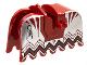 Part No: 2490pb04  Name: Horse Barding, Ruffled Edge with Knights Kingdom Vladek Scorpion Pattern