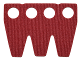 Part No: 25508  Name: Minifigure, Skirt Cloth 3 Truncated Points Partial Wrap