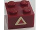 Part No: 3003pb113  Name: Brick 2 x 2 with Dark Red Triangle on Tan Pattern (Sticker) - Set 7475