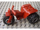 Part No: 30187c07  Name: Tricycle with Dark Red Chassis & Light Bluish Gray Wheels