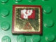 Part No: 3068bpb0386  Name: Tile 2 x 2 with Groove with Screen and Dark Red Electricity Danger Sign on Gold Background Pattern (Sticker) - Set 8107