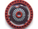 Part No: 32439apb02  Name: Technic, Disk 5 x 5 - Notched with ARC-170 Starfighter Pattern