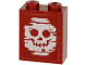 Part No: 3245cpb122  Name: Brick 1 x 2 x 2 with Inside Stud Holder with Blurry White Skull on Transparent Background Pattern (Sticker) - Set 60266
