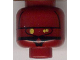 Part No: 3626bpb0111  Name: Minifigure, Head Alien with SW EV-9D9 Droid, Yellow Eyes Pattern - Blocked Open Stud