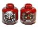 Part No: 3626bpb0719  Name: Minifigure, Head Dual Sided LotR Uruk-hai Scowling / Handprint Pattern - Blocked Open Stud