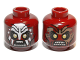 Part No: 3626cpb0719  Name: Minifigure, Head Dual Sided LotR Uruk-hai Scowling / Handprint Pattern - Hollow Stud