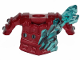 Part No: 41158pb01  Name: Minifigure, Armor Breastplate with Shoulder Pads and Trans Light Blue Crystals Pattern