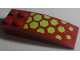Part No: 44126pb045  Name: Slope, Curved 6 x 2 with Lime Hexagons Pattern (Sticker) - Set 70703