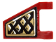 Part No: 44676pb024L  Name: Flag 2 x 2 Trapezoid with Black and Gold Diamonds Pattern Model Left Side (Sticker) - Set 70732