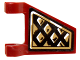 Part No: 44676pb024R  Name: Flag 2 x 2 Trapezoid with Black and Gold Diamonds Pattern Model Right Side (Sticker) - Set 70732