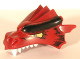 Part No: 50108pb01  Name: Dragon Head (Fantasy Era) Upper Jaw with Small Black Scales and Yellow Eyes Pattern