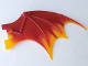 Part No: 51342pb02  Name: Dragon Wing 19 x 11 with Marbled Orange Trailing Edge Pattern