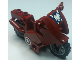 Part No: 52035c02pb14  Name: Motorcycle City with Black Chassis, LBG Wheels and Fairing with Eagle and Captain America Stars Pattern (Stickers) - Set 6865