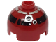 Part No: 553px4  Name: Brick, Round 2 x 2 Dome Top with Silver and Black Pattern (R4-P17)