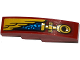 Part No: 61678pb091L  Name: Slope, Curved 4 x 1 with Gold Wing and Pipe Pattern Model Left Side (Sticker) - Set 70600