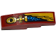 Part No: 61678pb091R  Name: Slope, Curved 4 x 1 with Gold Wing and Pipe Pattern Model Right Side (Sticker) - Set 70600