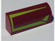 Part No: 6191pb008L  Name: Slope, Curved 1 x 4 x 1 1/3 with Lime Lines Pattern Model Left Side (Sticker) - Set 7751
