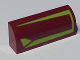 Part No: 6191pb008R  Name: Slope, Curved 1 x 4 x 1 1/3 with Lime Lines Pattern Model Right Side (Sticker) - Set 7751