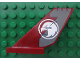 Part No: 6239pb033  Name: Tail Shuttle with White Eagle Head in Circle Pattern on Both Sides (Stickers) - Set 7307