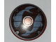 Part No: 75902pb04  Name: Minifigure, Shield Round with Rounded Front with Fish Pattern