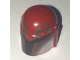 Part No: 87610pb08  Name: Minifigure, Headgear Helmet with Holes, SW Mandalorian with Dark Brown Facial Details Pattern