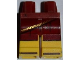 Part No: 970c03pb20  Name: Hips and Yellow Legs with Dark Red Toga and Brown Sandals Pattern
