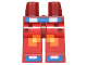 Part No: 970c05pb19  Name: Hips and Red Legs with Pixelated Pants with Orange and Yellow Squares, Blue Belt and Shoes Pattern