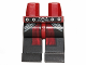 Part No: 970c11pb20  Name: Hips and Black Legs with SW Belt and Dark Red Sash Pattern