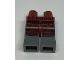 Part No: 970c85pb13  Name: Hips and Dark Bluish Gray Legs with Dark Red Samurai Leg Armor Pattern
