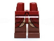 Part No: 970c88pb10  Name: Hips and Reddish Brown Legs with Dark Red and Gold Elven Robe Pattern