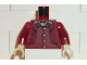 Part No: 973pb0119c01  Name: Torso Harry Potter Goblin 2 Pattern / Dark Red Arms / Tan Hands