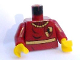 Part No: 973pb0162c01  Name: Torso Harry Potter Quidditch Gryffindor Pattern / Dark Red Arms / Yellow Hands