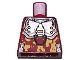 Part No: 973pb0461  Name: Torso Exo-Force Silver Body Armor with Light Orange Camouflage Pattern