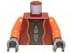 Part No: 973pb0583c01  Name: Torso SW Neimoidian Viceroy Pattern / Orange Arms / Dark Bluish Gray Hands
