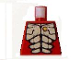 Part No: 973pb0696  Name: Torso Alien with Muscles Outline and Gold Skull Pattern