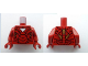 Part No: 973pb1106c01  Name: Torso Armor with White Triangle Pattern / Dark Red Arms / Dark Red Hands