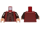 Part No: 973pb1258c01  Name: Torso SW Chancellor Palpatine, Horizontal Trim Pattern / Dark Brown Arms / Light Flesh Hands